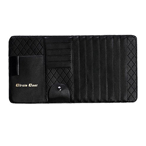 Multi-functions CD Visor CD Holder/wallet/organizer for Car (Black)