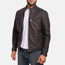 New Men's leather Ionic Black Leather Jacket - $159.99+