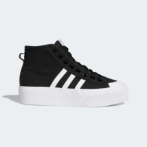 adidas Originals Women's Nizza Platform Mid cut shoes black - $90.76