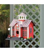 10018076 SHIPS FREE-Songbird Valley Red Schoolhouse Birdhouse - $18.99