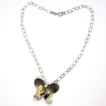 925 Silver Necklace, Oval Chain, Pendant Butterfly Large Panel Butterflies image 2