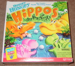 HUNGRY HUNGRY HIPPOS FRANTIC MARBLE MUNCHING GAME 2000 MILTON BRADLEY HA... - $18.00