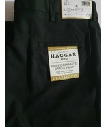 36x29 Haggar H26 Men's Performance 4 Way Stretch Classic Fit Trouser Pan... - $17.64