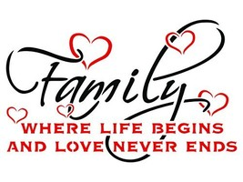 Family Stencil - 10.5 x 6.5 inch (S) - Reusable Quote Saying Words Wall ... - $22.79