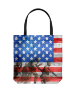 United States Soldiers Flag Everyday Tote Bag Memorial Day Double Sided Print - $19.95