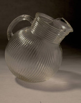 Clear Ribbed Glass Pitcher - $35.00