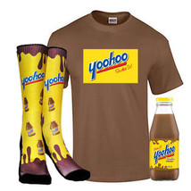 Yoohoo Chocolate Drink Gift Set Includes Socks T Shirt And Drink S M L XL - $23.09