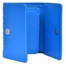 Latest Sky Blue Trifold Shape Multi Card Slots Pure Crocodile Leather Wallet - $176.39