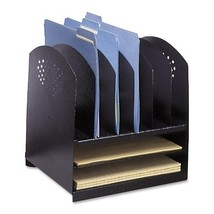 Safco Products 3166BL Steel Desk Combination Organizer Rack with 6 Verti... - $71.69