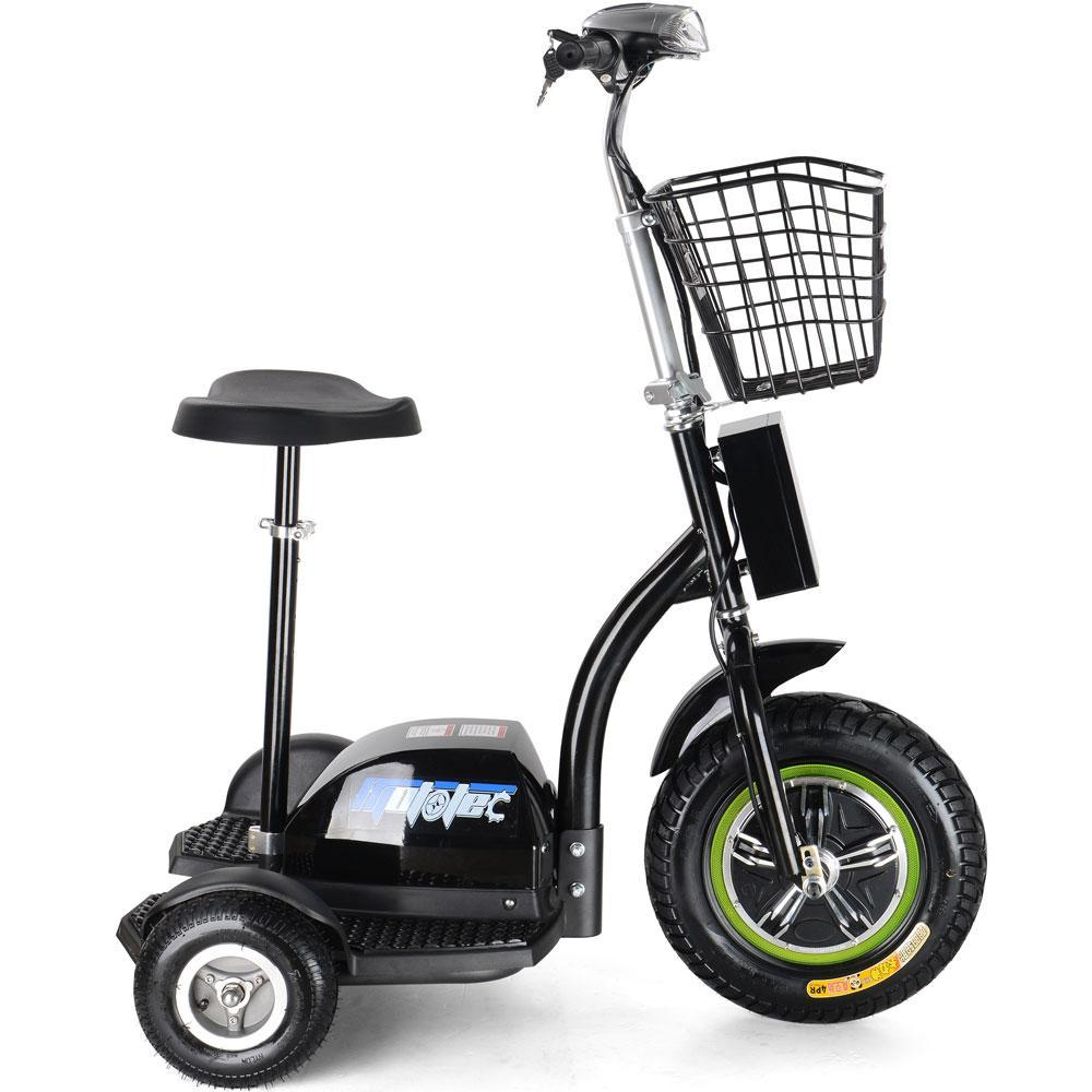 MotoTec Electric Trike 48v 500w Personal Transporter 3 Wheel Scooter up to 22MPH