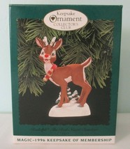 Hallmark Collectors Club 1996 Magic Rudolph the Red Nose Reindeer Lights... - $20.00