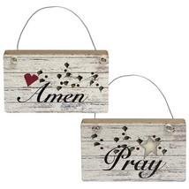 Amen & Pray Ornament 2 asst. - $28.98
