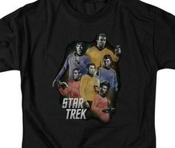 Star Trek Retro 60's original crew Kirk Spock & McCoy graphic t-shirt CBS1159 image 2
