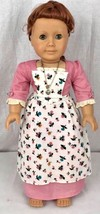 American Girl Pleasant Company Felicity doll with rose spring pinner dress  - $111.76