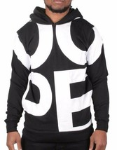Dope Couture Mens Black White Oversize DOPE Print Pullover Hoody Sweatshirt NWT