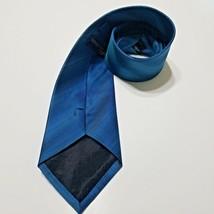 KENNETH COLE Men's BLUE STRIPE DRESS NECKTIE SILK SKINNY TIE - €14,89 EUR