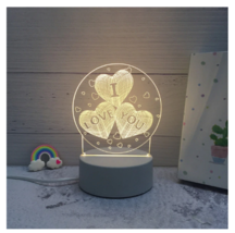 3D LED Lamp Creative Night Lights Novelty Night Lamp Table Lamp For Home 7 - £9.59 GBP