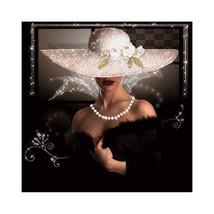 Ty lady 5d diy diamond painting round diamond needlework wall painting craft home decor thumb200