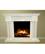 Creamy White Fireplace Surround Mantel Marble Living Room Family Room FP... - $3,498.00
