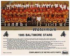 USFL Champion Baltimore Stars Color Team Picture 8 X 10 Photo Picture - $5.99