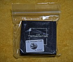 Terminator T-800 2 Oz .999 Silver Proof Round With COA & Individually Numbered image 8