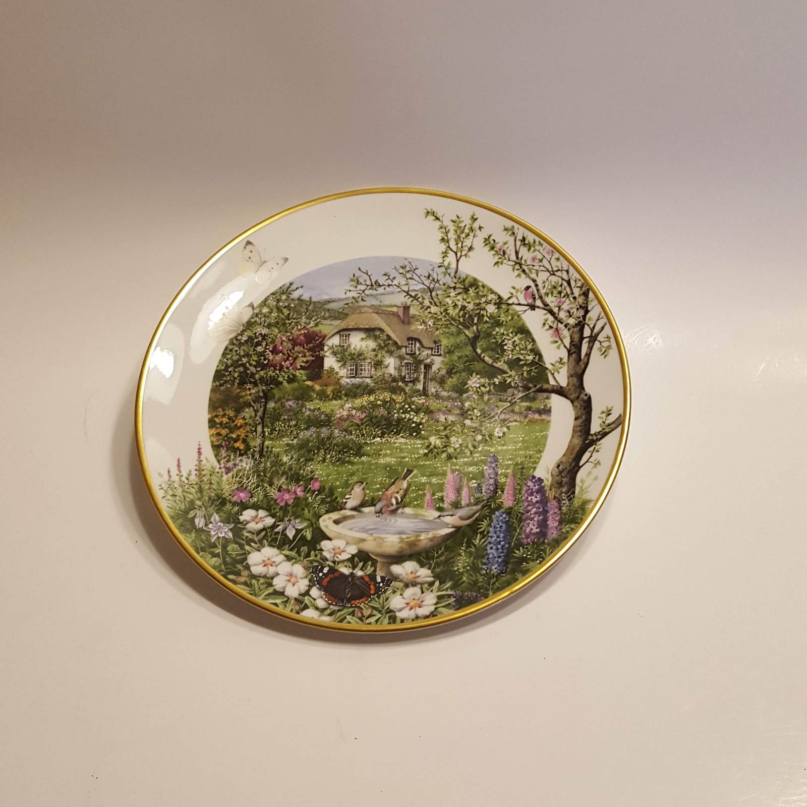 Primary image for Franklin Porcelain Plate June in a country garden @1979 by Peter Banett.Lim.ed.