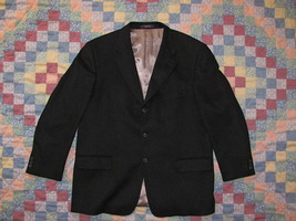 Men's Arnold Brant Ing Loro Piana Italy 100% Cashmere Black Blazer Jacket - $66.49