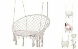 Karriw Hammock Chair Macrame Swing,Cotton Hanging Macrame Hammock Swing ... - $92.29