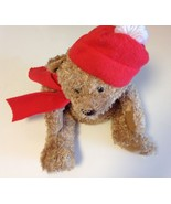 American Greetings Stuffed Plush Bear With Magnet In Paws & Red Hat & Scarf - $5.00