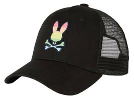 Psycho Bunny Men's Snapback Mesh Embroidered LGBT Rainbow Logo Baseball Cap Hat image 2