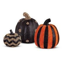 Boutique Style Seed Bead Beaded Halloween Pumpkins Set of 3 Collectibles... - $116.08 CAD