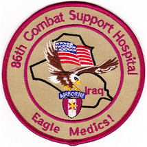 """4"""" Army 86TH Airborne Combat Support Medical Hospital Eagle Medics Patch - $23.74"""