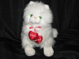 Russ Vintage Caress Soft Pet White Persian Kitty Cat You're Purr-fect he... - $59.39