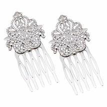 3 Pcs Silver Metal Side Comb Dunhuang Hair Ornaments Hairpin Decorative Bridal H
