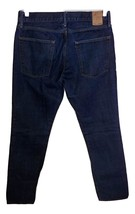 Gap 1969 Authentic Skinny Men's BUTTON-FLY Dk Wash JEANS-32X32.5-GENTLY WORN-NIC - $22.00