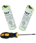 2x HQRP Battery for Braun 155 3610 3612 3614 3615 7650 7790 8970 Razor /... - $14.35