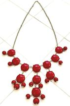 "BURGUNDY RED CLUSTER 29.5"" BEADED NECKLACE image 3"
