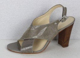 Calvin Klein Jill adobe reptile patent leather designer heel sandals size 9M - $21.11