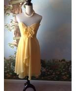 Allure Bridals Bride Maids Women Yellow Removable Straps Dress Size 10  - $38.61