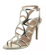 Christian Siriano KOKO Strappy Metallic Gold Chopout Pumps Sandals Size ... - $23.97