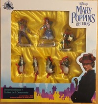 Disney Mary Poppins Returns Limited Edition Holiday Ornament Set of Seve... - $39.95