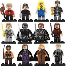12pcs/set Game of Thrones Khal Drogo Jon Snow Tyrion Cersei  Minifigures Lego - $18.99