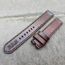 18mm/18mm Genuine Cowhide Leather Vintage Watch Straps Band - Dark Brown... - $21.78