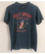 Harley Davidson Mens Tshirt Blue Peterson's Key West Florida Legendary S... - $18.80