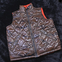 American Eagle Mens Reversible VEST Size Large L Camo/Orange NEW - $32.66