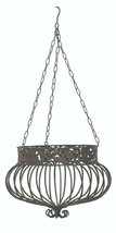 S/3 Hanging Basket Planters Rust Victorian Style 3 sizes Wrought Iron Metal - $99.95