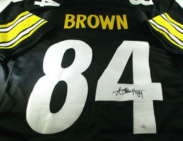 ANTONIO BROWN / AUTOGRAPHED PITTSBURGH STEELERS CUSTOM FOOTBALL JERSEY / COA image 1