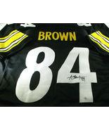 ANTONIO BROWN / AUTOGRAPHED PITTSBURGH STEELERS CUSTOM FOOTBALL JERSEY / COA - $89.05