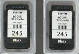 2 Used Empty Canon Ink Cartridges Black 245 - $8.50