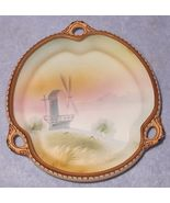 Early Japan Nippon Hand Painted Three Handle Porcelian Bowl Windmill - $49.95